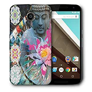 Snoogg Buddha Stands For Peace Designer Protective Back Case Cover For Motorola Nexus 6