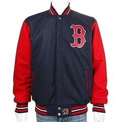 Boston Red Sox Wool Nylon Reversible Varsity Jacket XL by MLB JH Design Group