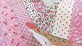 布人倶楽部 有輪商店 松山敦子さんのシャーティング ドット花柄ストライププリント 1mカットクロス