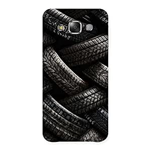 Stylish Knot Tyre Back Case Cover for Galaxy E7