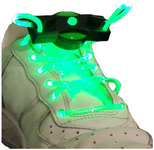 WeGlow International LED Shoelaces (2-Pair), Green - 1