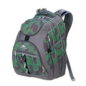 High Sierra Access Backpack (20 x 15 x 9.5-Inch, Green/Gray Print)