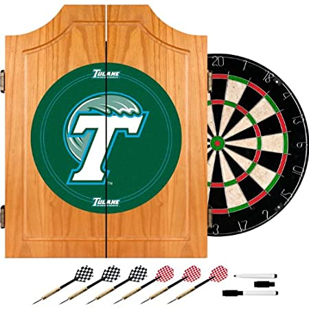 Tulane University Dart Cabinet with Darts and Board