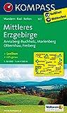 Mittleres Erzgebirge: Wanderkarte mit Kurzführer,  Rad - und Reitwegen. GPS-genau. 1:50000 (KOMPASS-Wanderkarten)