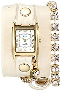 La Mer Collections Women's LMMULTI5001 Chandelier Crystal Chain Collection Silk Chandelier Watch