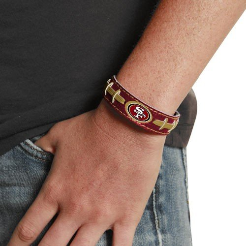 San Francisco 49ers Team Color NFL Football Bracelet