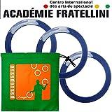 3 Académie Fratellini 26cm azules Pro anillos malabares junior con bolsa