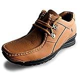 Candel Gold Men's Black Leather Casual Shoes -10 UK