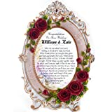 Wedding Congratulation Gifts - Personalised 5 X 7 Wedding Gift Frame with a Lovely Verse