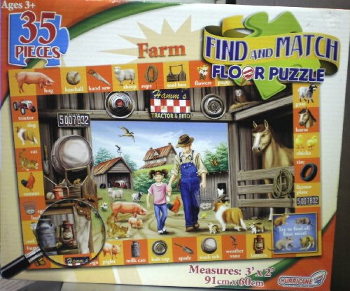 Buy Low Price Hurricane  Toys Find and Match Farm Floor Puzzle (B004T4WW6I)