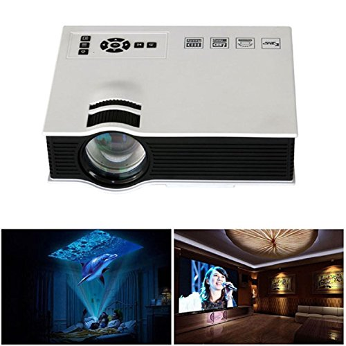 Best abc 1800lumens led mini home multimedia projector for Hdmi mini projector reviews