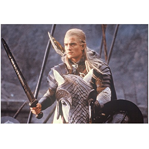 The Lord of the Rings Orlando Bloom as Legolas on Horse with Armor 8 x 10 Inch Photo