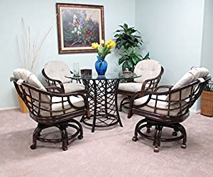 Made In USA Rattan Dining Caster Chair Table Gaming Furniture New