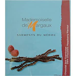Mademoiselle de Margaux Dark Chocolate Twigs with Raspberry 125 gr