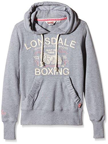 Lonsdale - Sweatshirt Hawkhurst, Felpa Donna, Grigio (Marl Grey), XS (Taglia Produttore: XS)