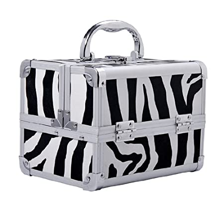 Soozier Professional Makeup Artist Cosmetic Travel Mini Case with Pull-Out Trays - Zebra Print at Sears.com