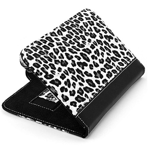 Excellent Bundle- Black And White Leopard Print Carrying Case With Holding Strap For Barnes & Noble Nook Color + State Of The Art Stylus/Pen/Laser Pointer/Flashlight + Black Noise Isolating Headphones And Vangoddy Live*Laugh*Love Wristband
