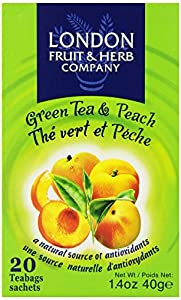London Fruit & Herb Company Green Tea & Peach, 20 Tea Bags