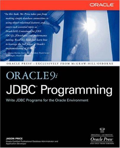 Oracle 9i JDBC Programming