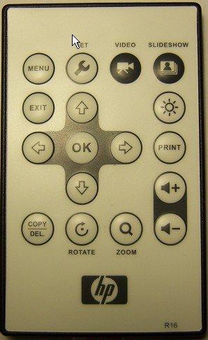 Remote Control for hp Digital Photo Frame df780bx and df820bx -- df780b2, df780b3, df780b4, df820b2, df820b3, df820b4, df1000b3