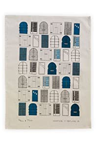 Nell and Mary Doors Organic USA-made Tea Towel (Teal)