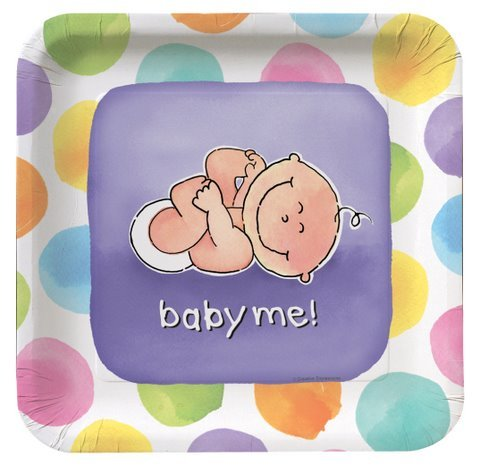 Baby Me Shaped Lunch Plates 8ct - 1