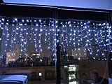 高輝度LED194球 ★ 194 LED つらら ★ クリスマス イルミネーション イルミ ライト 照明 ツララ 白(ホワイト)