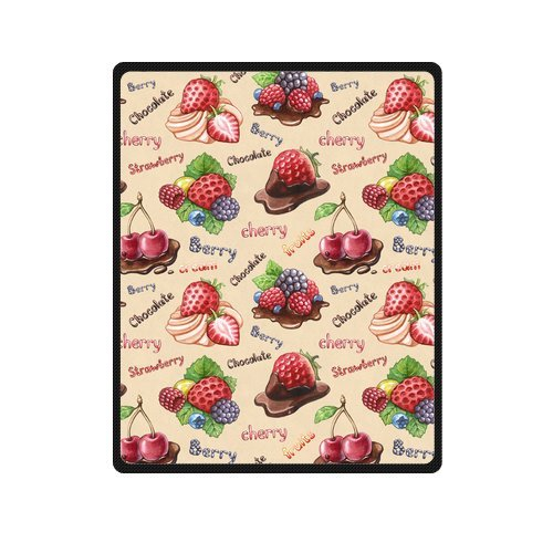 Personalized Fashion Delicious Strawberry And Cherry Picture Fleece Blanket 40 X 50 back-970952