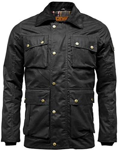 Mens Utilitas Waxed Cotton Multipocket Wax Jacket XX-Large Black (Jacket Waxed Cotton compare prices)