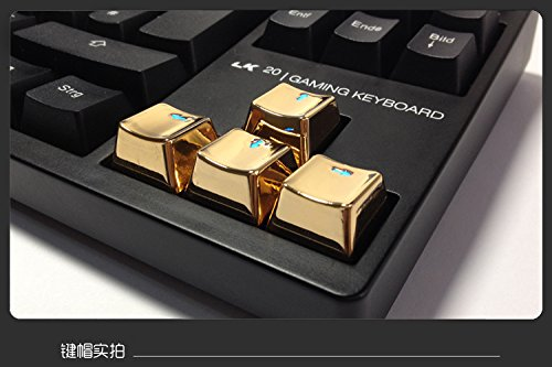 Metal Metal Zinc Transparent UP Down Left Right Direction Keycap Key Cap Keyset Button Gold for Cherry MX/OEM Mechanical Keyboard Tastiera