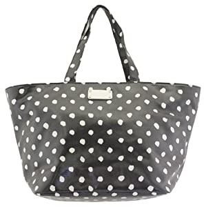 Kate Spade Anabel Baby Bag Dizzy Dot Navy Coated Canvas Tote by Kate Spade