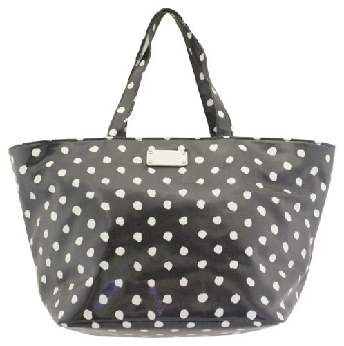 Kate Spade Anabel Baby Bag Dizzy Dot Navy Coated Canvas Tote front-673456