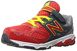 New Balance KA680 Youth Running Shoe (Little Kid/Big Kid), Grey/Red, 1.5 E US Little Kid