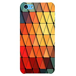 Colour Triangle iPhone 5c Back Phone Case