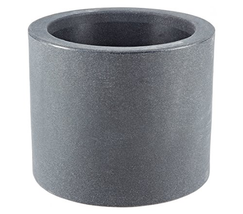 Dehner-Blumenkbel-Kubus-mit-integrierten-Rollen--40-cm-Kunststoff-anthrazit