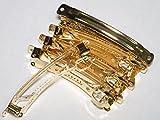 バレッタ 金具 80mm x 10mm ハンドメイド ヘア アクセサリー 材料 部品 ゴールド (20個)