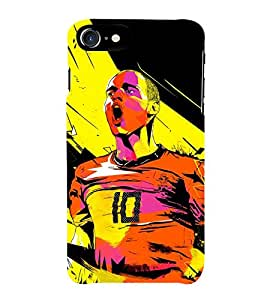 Fiobs Football Art Ball Craze Fan Made Art Phone Back Case Cover for Apple iPhone 7 (4.7 Inches)