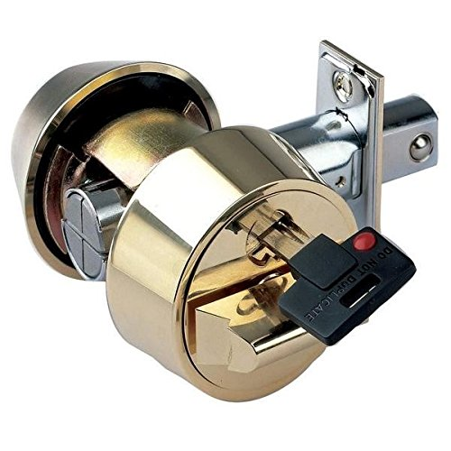 Mul-T-Lock Hercular Double Cylinder Captive Key Deadbolt - Satin Brass