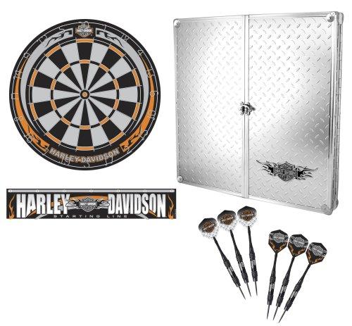 Harley Davidson? 61996 Diamond Plate Dartboard Cabinet Kit