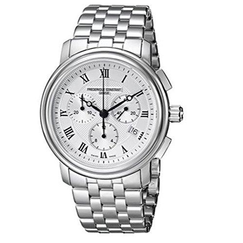 Unisex-reloj cronógrafo Frederique constant cuarzo acero inoxidable FC-292MC4P6B2