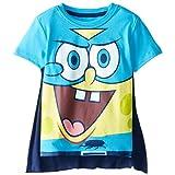 SpongeBob SquarePants Toddler Boys' Tee Shirt with Cape, Royal, 5T