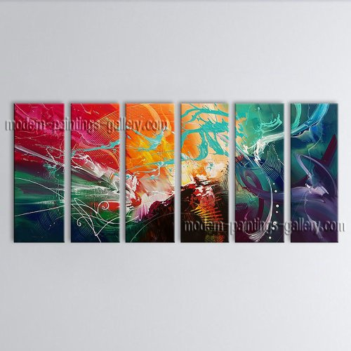 Hand-Painted Huge Modern Abstract Painting Wall Art Decoration Ideas Bedroom Wall Art