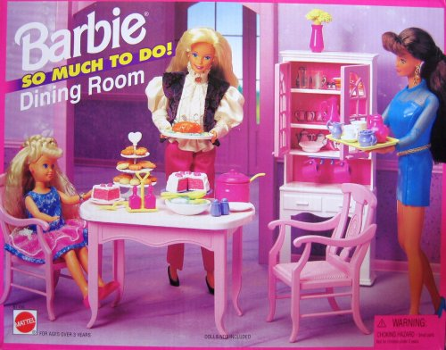 Playsets Barbie So Much To Do Dining Room Playset 1995  : 51vfzEVlfVL from playsetssells.blogspot.com size 500 x 392 jpeg 53kB
