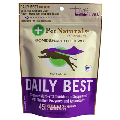Pet Naturals Of Vermont Daily Best Multivitamin F Original Dogs And Puppies Chicken Liver - 45 Soft Chews