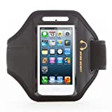 Gear Beast Premium Nylon/Neoprene Apple iPhone 5 / iPhone 5s / iPhone 5c Sports Armband (Black)