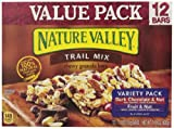 Nature Valley Chewy Trail Mix, Variety Pack of Dark Chocolate & Nut and Fruit & Nut, 12-Count Boxes (Pack of 8)