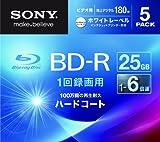 SONY ビデオ用BD-R 追記型 片面1層25GB 6倍速 ホワイトプリンタブル 5枚パック 5BNR1VGPS6