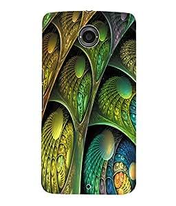 Fuson 3D Printed Pattern Design Designer Back Case Cover for Motorola Google Nexus 6 - D936