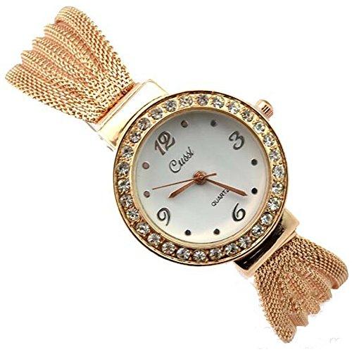 R-timer Frauen Grils Fashion Rose goldene Armband-Uhren runden Zifferblatt Armbanduhren
