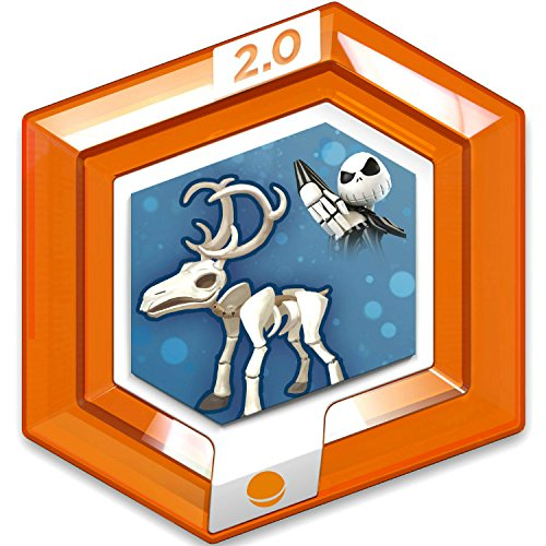 Disney Infinity 2.0 Disney Originals RARE Orange Power Disc - Jack Skellingtons Reindeer